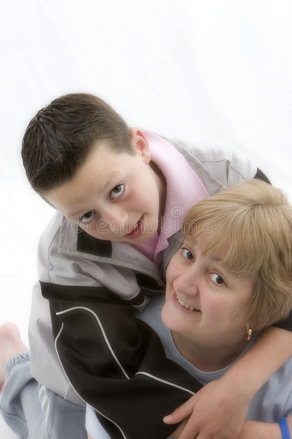 Mother & Son stock images