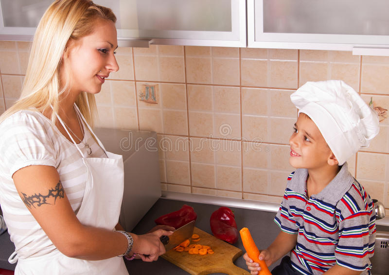 Download Mother and son stock photo. Image of happy, mother, carots - 22229326