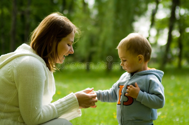 Mother And Son royalty free stock image