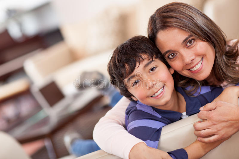 Download Mother and son stock image. Image of smiling, casual - 24936929