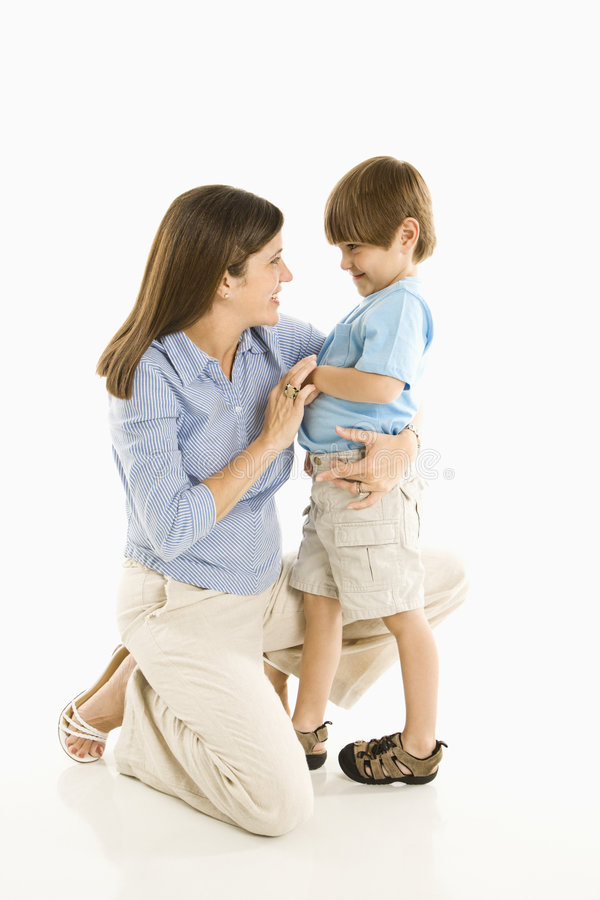 Mother with son. stock photos