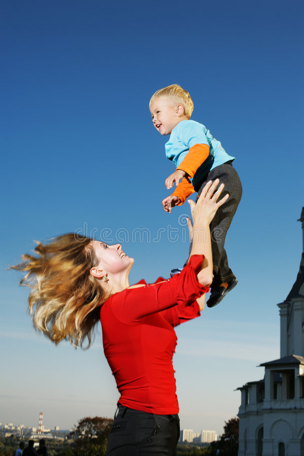 Mother with son royalty free stock images