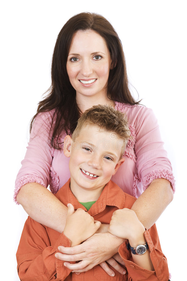 Mother and son stock photo