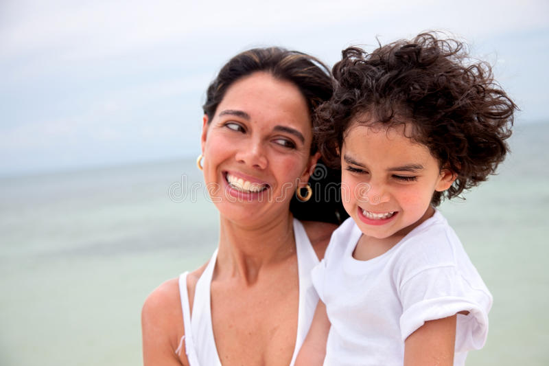 Download Mother And Son At The Beach Stock Photo - Image: 11014842