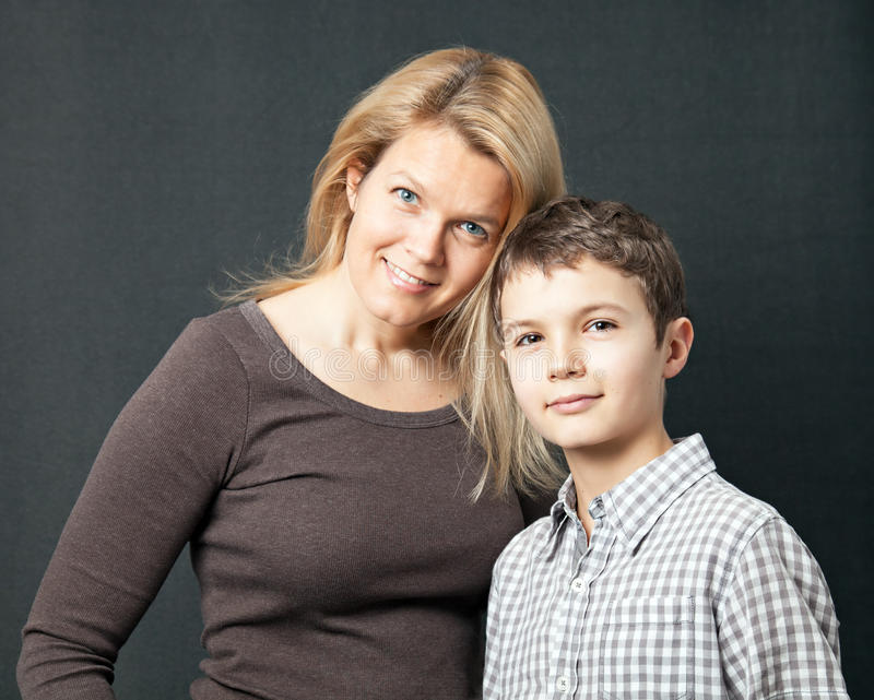 Download Mother and Son stock image. Image of female, portrait - 36669921