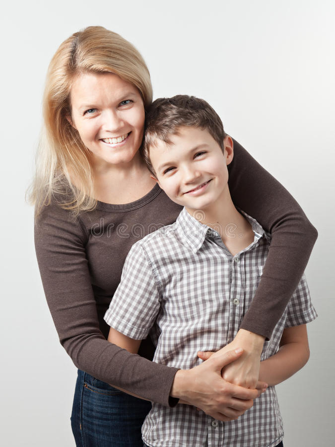 Download Mother and Son stock image. Image of camera, hair, brown - 36670209
