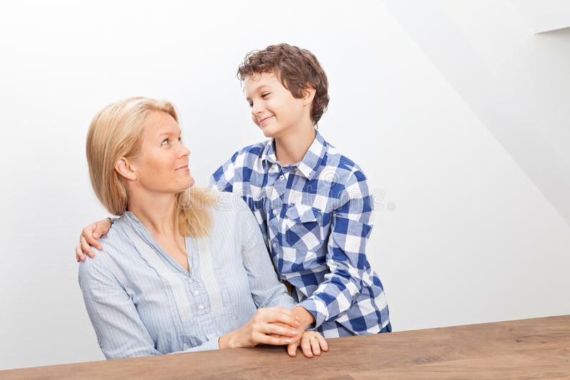 Download Mother and son stock photo. Image of horizontal, mother - 33474796
