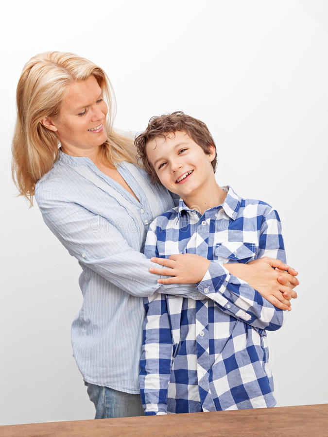 Download Mother and son stock image. Image of european, standing - 33475015