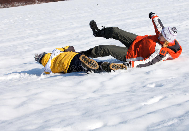 Download Mother And Son Enjoying Beautiful Winter Day Royalty Free Stock Photo - Image: 22990075