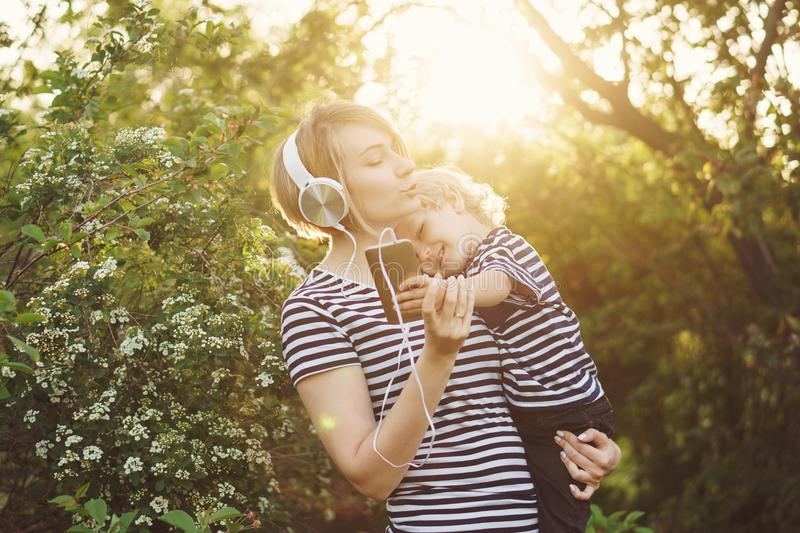Mother and son. Family time stock images