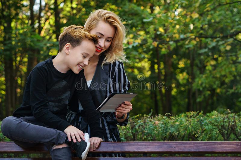 Mother and son. Family time royalty free stock photography
