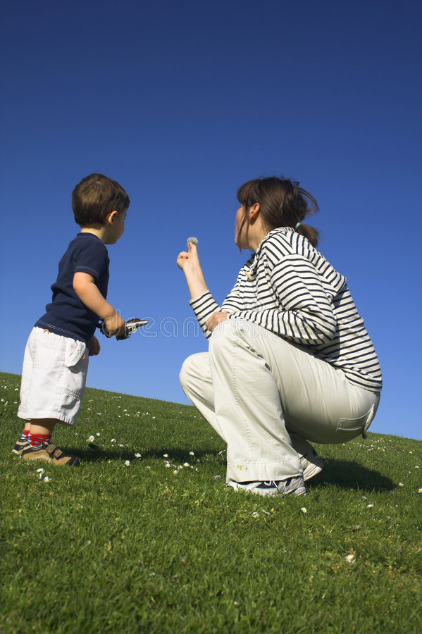 Mother and son having a good royalty free stock photo