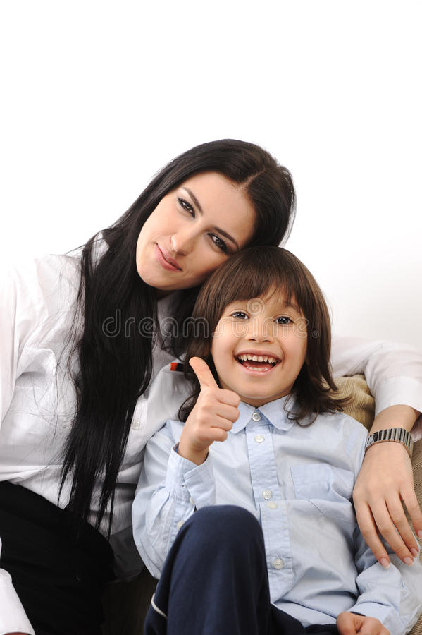 Mother And  Son In Love Together Stock Images