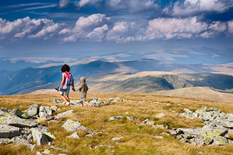 Download Mother And Son In The Mountains Stock Image - Image: 15946329
