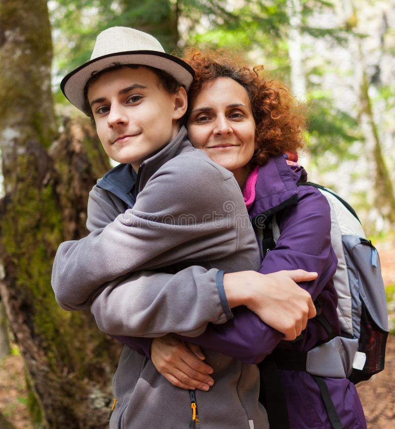 Download Mother and son outdoors stock photo. Image of hiking - 41071372