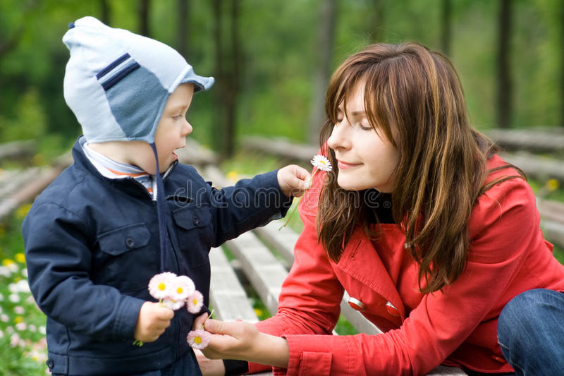 Download Mother and Son in the park stock photo. Image of happy - 13486950
