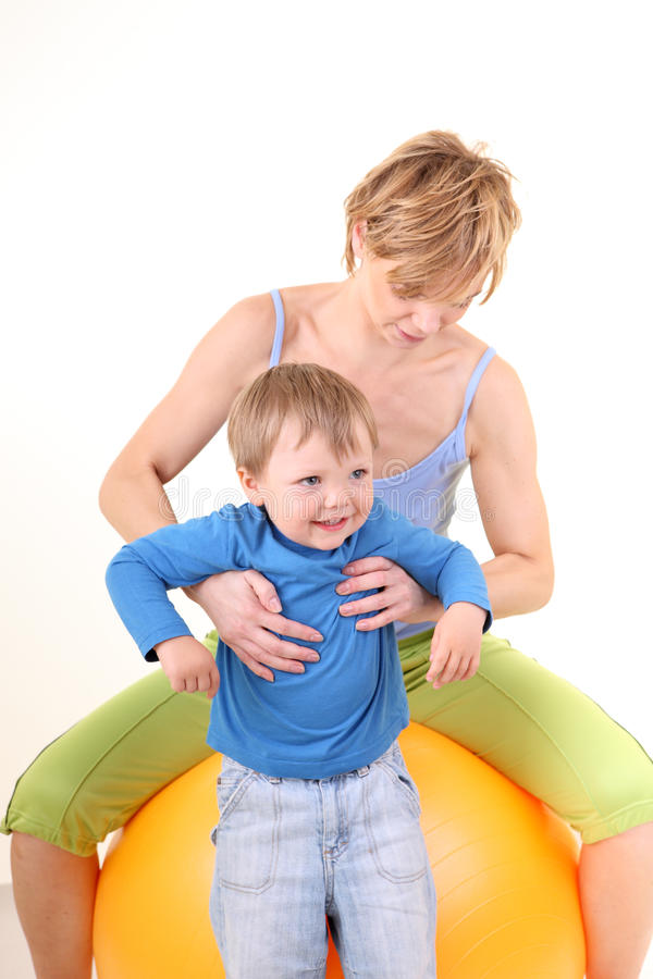 Download Mother and son playing stock image. Image of comfort, care - 9846545