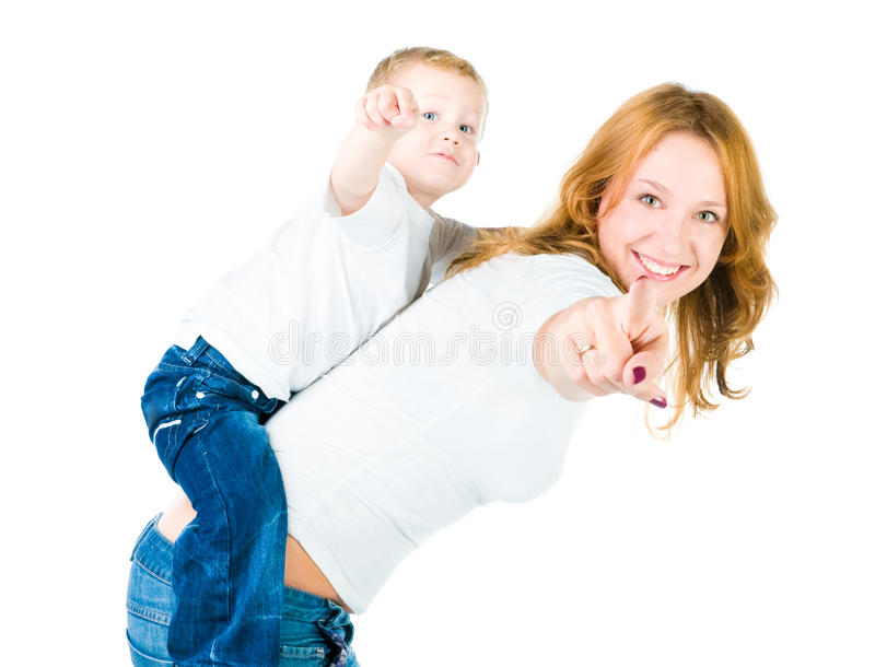 Download Mother and son point out stock photo. Image of adorable - 11790266