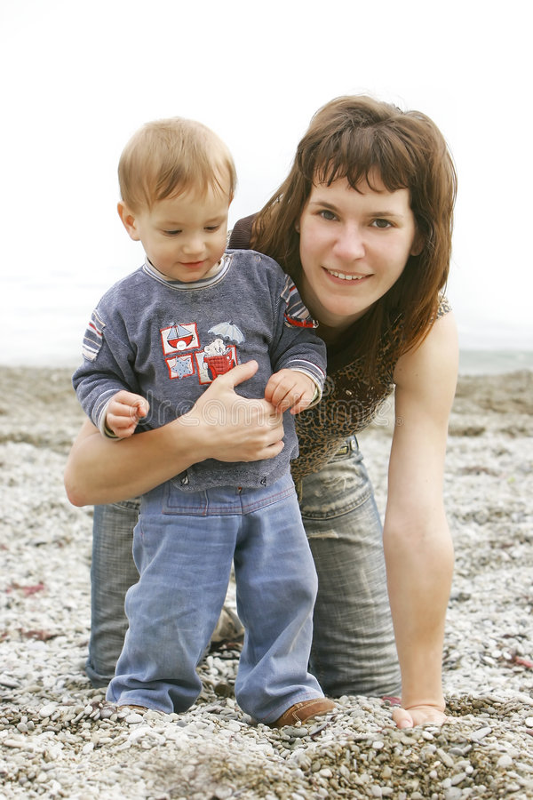 Download Mother with son portrait stock photo. Image of background - 4948520