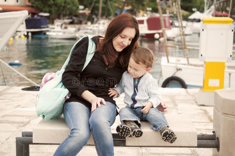 Download Mother and son stock image. Image of happiness, harbor - 31467203