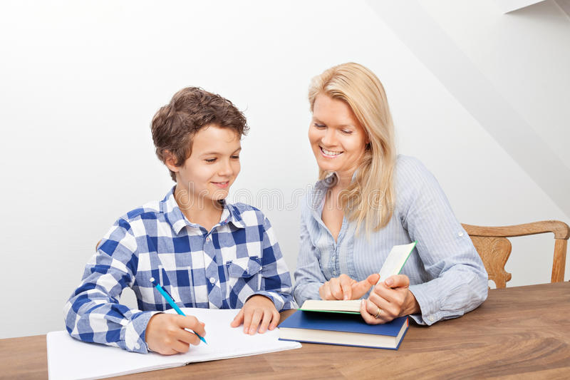 Download Mother And Son Studying Royalty Free Stock Photos - Image: 33466488