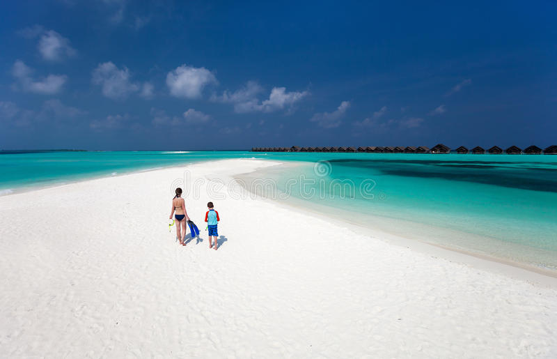 Download Mother And Son At Tropical Beach Stock Photo - Image: 41668955