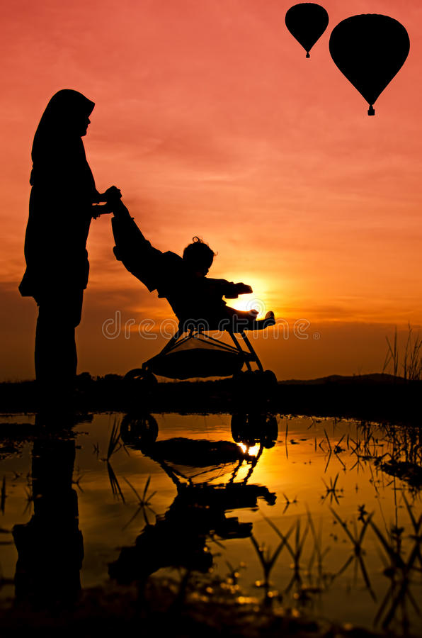 Download Mother and son walking stock image. Image of infant, feeling - 24623611