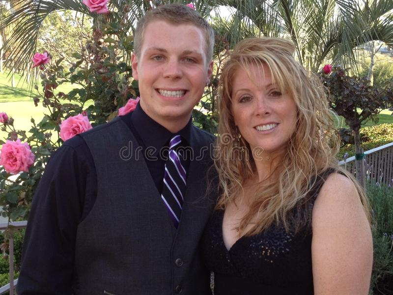 Mother and son at wedding royalty free stock photo