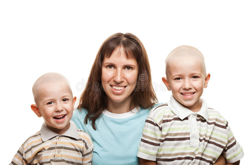 Download Mother and sons stock image. Image of headed, care, face - 20546021