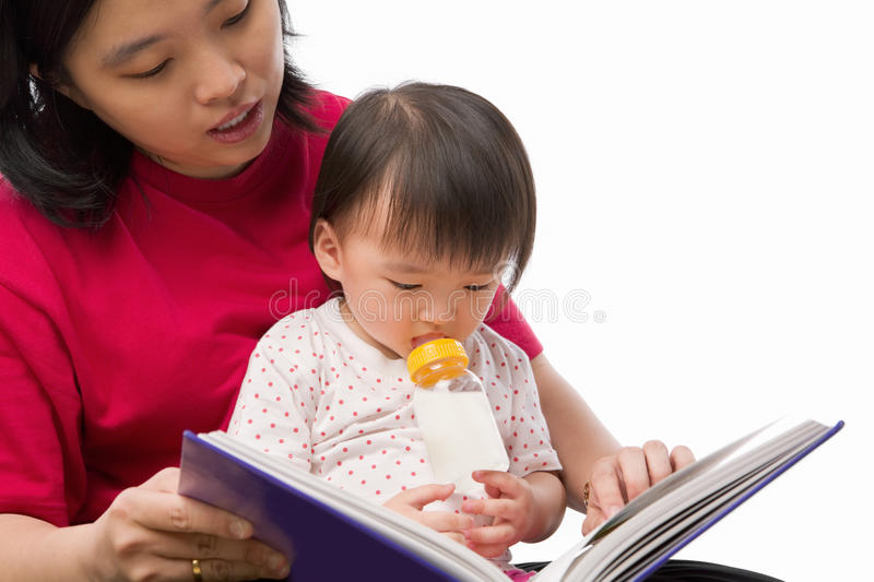 Mother Story Telling Her Daughter Stock Photography
