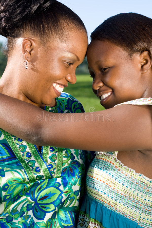Download Mother and teen daughter stock image. Image of african - 7581393