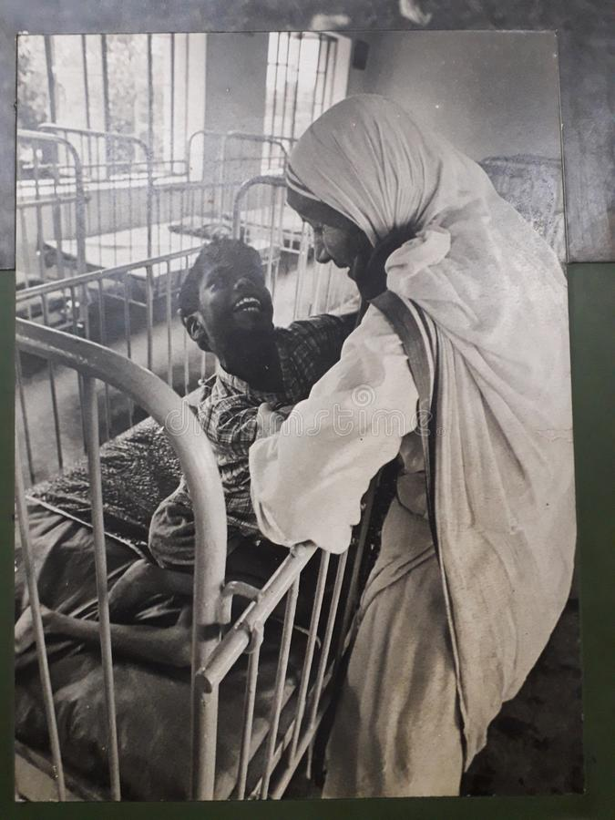 Mother Teresa in India i stock photography