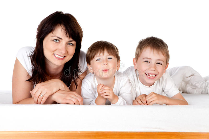 Mother with two children stock photography