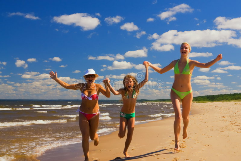 Download Mother and two daughters stock image. Image of child, outdoor - 2816305