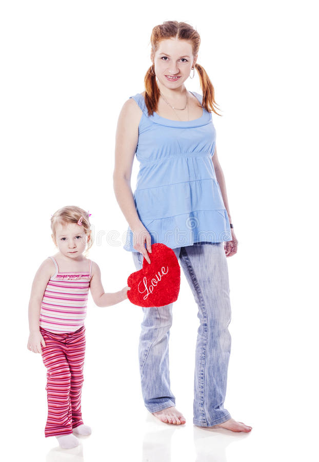 Mother walking daughter royalty free stock images