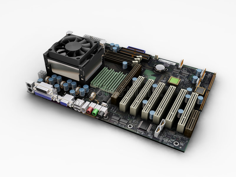 Motherboard vector illustratie