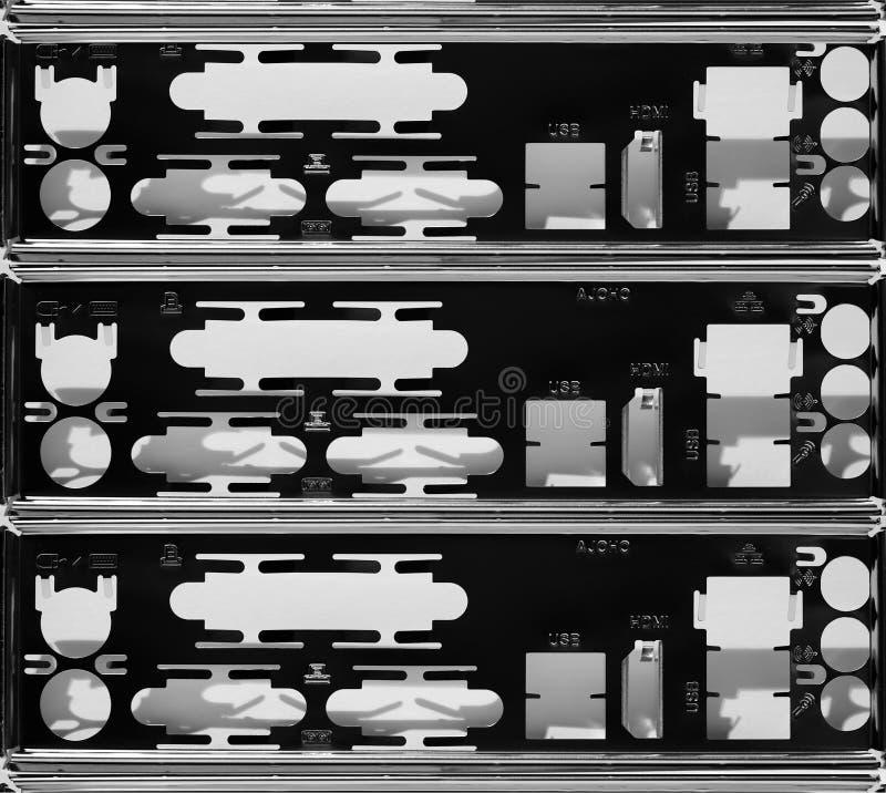 Motherboard computer achterpaneel stock afbeeldingen