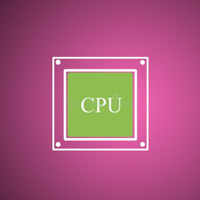 Motherboard, CPU-K?hler lizenzfreie abbildung