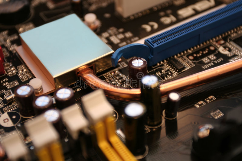 Motherboard detail royalty free stock photo