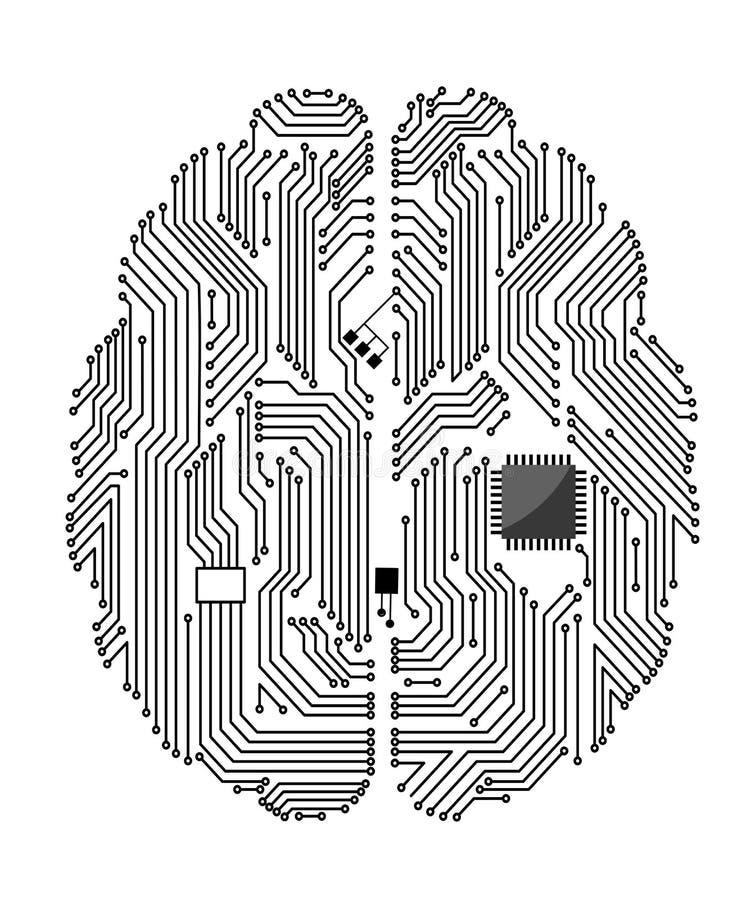 Motherboard hersenen royalty-vrije illustratie