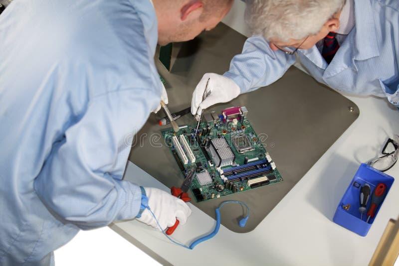 Motherboard reparaties stock fotografie