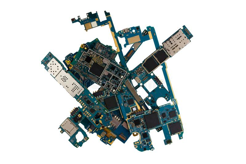 Pile Of PC Motherboard Backplates  Computer Technology Background