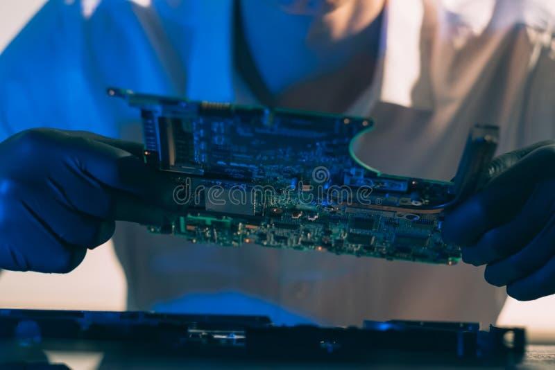 Motherboard van het de hardwareontwerp van het technieklaboratorium royalty-vrije stock foto's