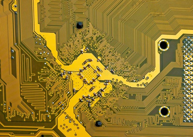 Motherboarddetail des elektronischen Kreisläufs stockfotografie