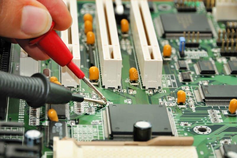 Motherboardprüfung stockfoto