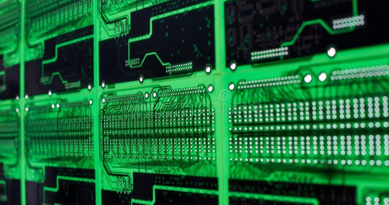 Motherboards van de computerkring technologieachtergrond royalty-vrije stock fotografie