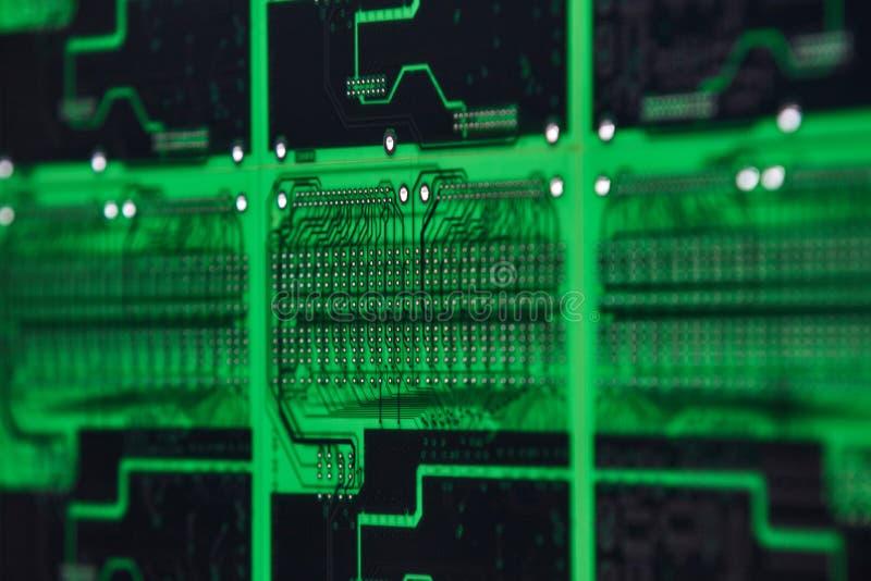 Motherboards van de computerkring technologieachtergrond stock fotografie