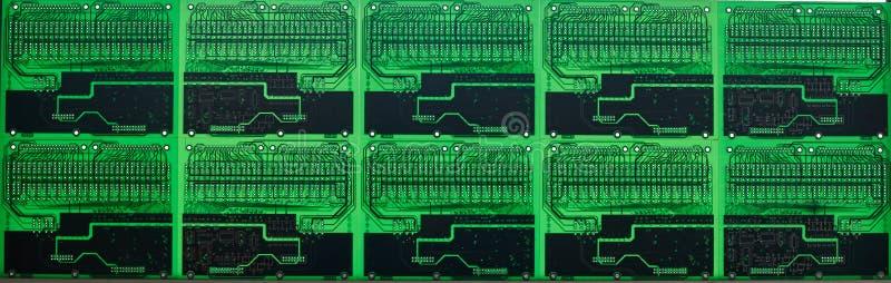 Motherboards van de computerkring technologieachtergrond banner royalty-vrije stock fotografie