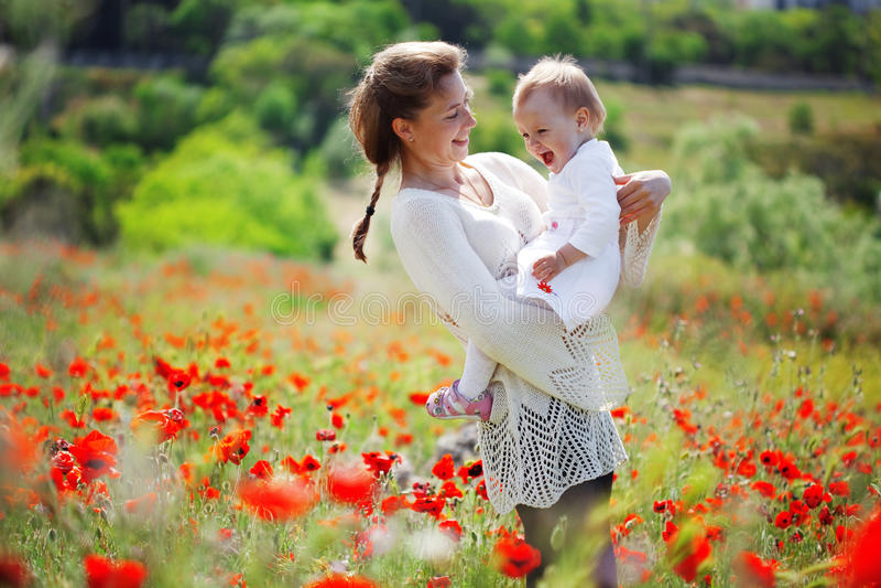 motherhood arkivbild