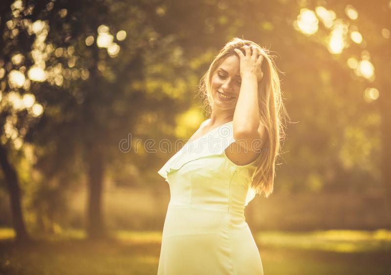 Motherhood will be such a bright journey. royalty free stock image